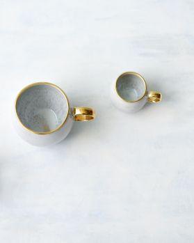 Areia Espressotasse azur mit Gold