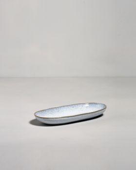 Frio Servierplatte M blau weiss
