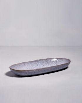 Porto Ovale Servierplatte L grau