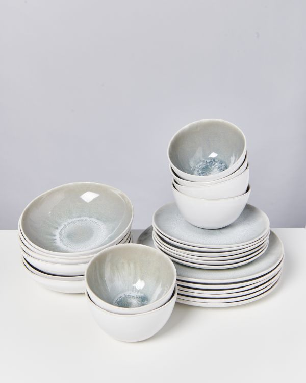 AREIA grey - Set of 24 pieces