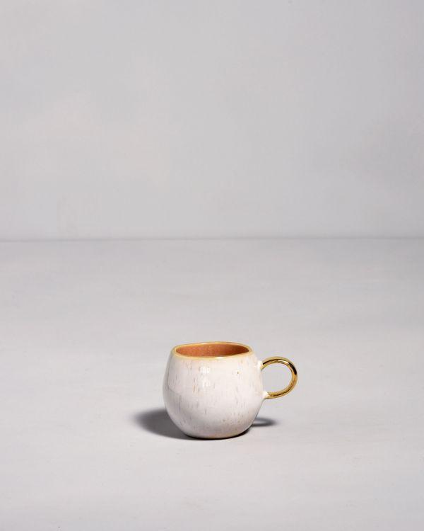 Areia - Espressotasse pink mit Gold