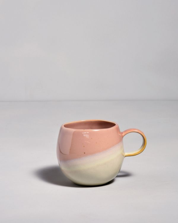 Bica Tasse gross pink cream