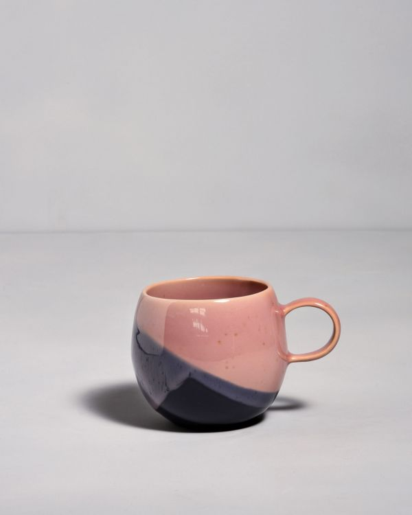 Bica Tasse gross navy pink