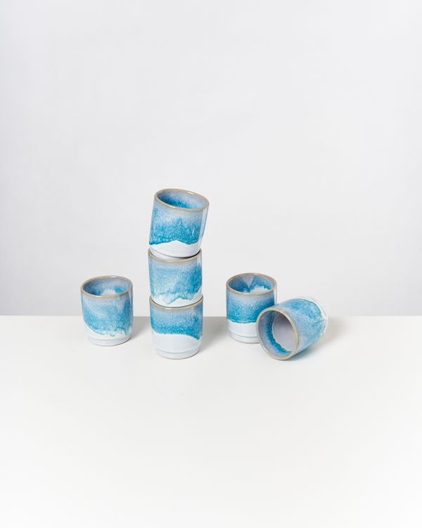 CORDOAMA - Set of 6 Cups aqua