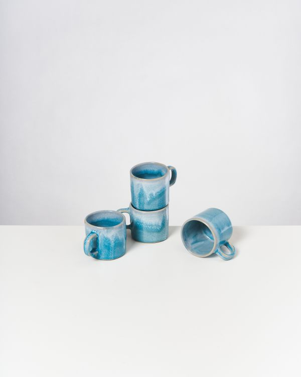 CORDOAMA - Set of 4 Mugs aqua