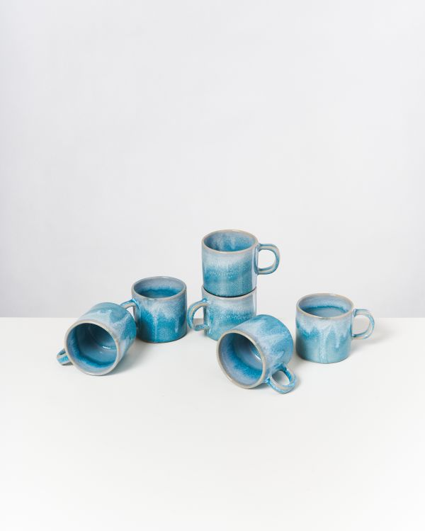 CORDOAMA - Set of 6 Mugs aqua