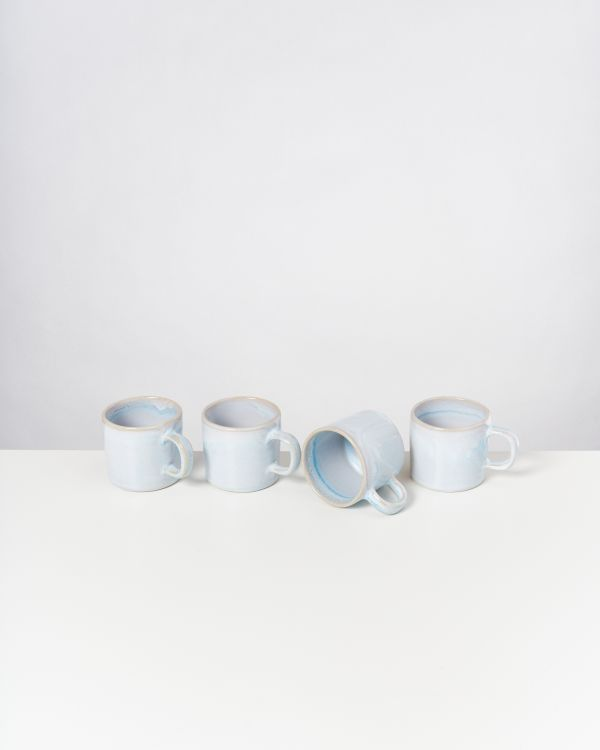 CORDOAMA - Set of 4 Mugs small azure