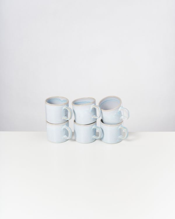 CORDOAMA - Set of 6 Mugs small azure