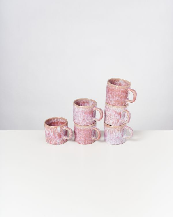 CORDOAMA - Set of 6 Mugs pink