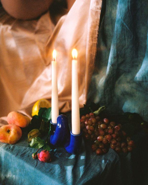 Motel a Miio x Ju Schnee Mala candle holder royalblue