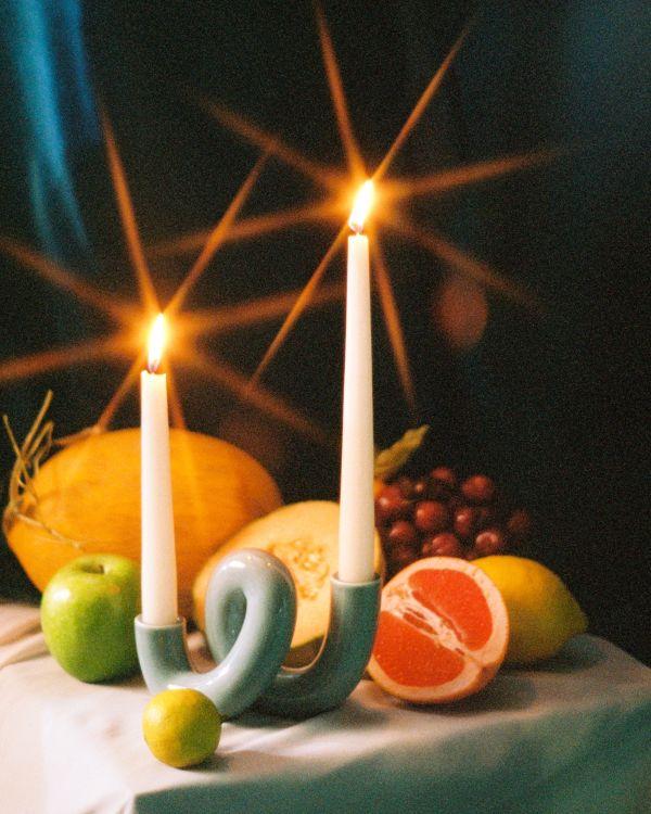 Motel a Miio x Ju Schnee Mala candle holder greyblue
