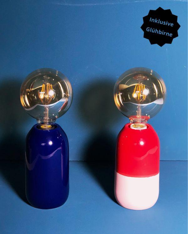 Farol Lampe dunkelblau