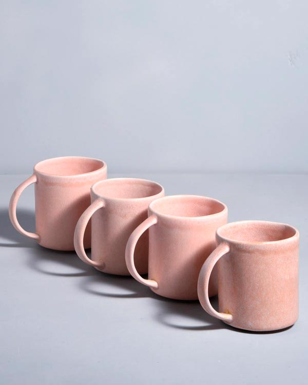 Macio 4er Set Tasse rose