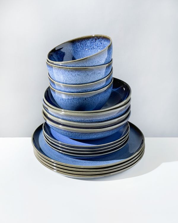 Melides - Set of 16 pieces blue