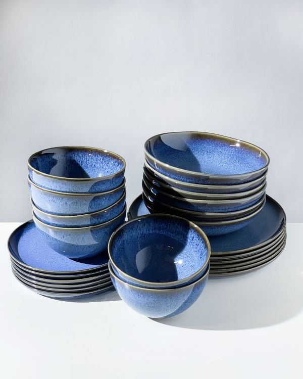 Melides - Set of 24 pieces blue