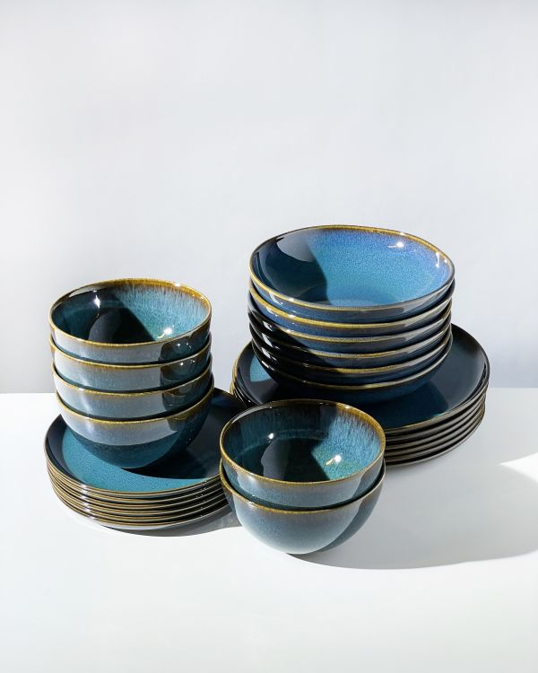 Melides - Set of 24 pieces oceanblue