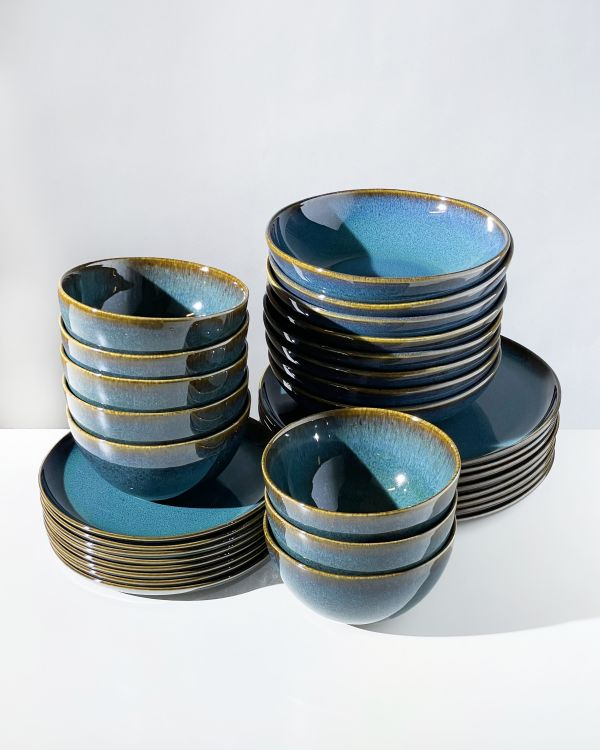 Melides - Set of 32 pieces oceanblue