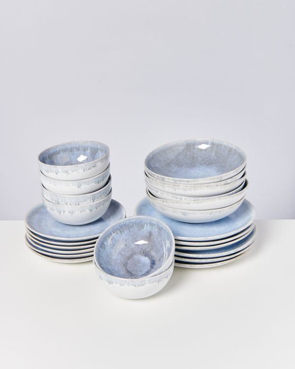ALACHOFRA - Set of 24 pieces greyblue