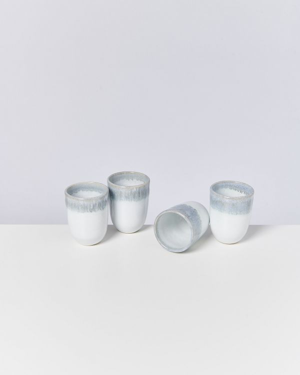 ALCACHOFRA - Set of 4 Cups big greyblue