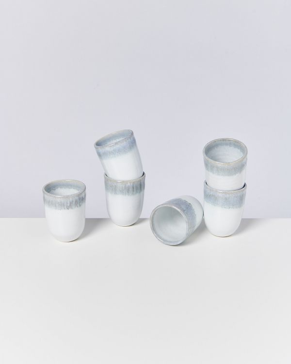 ALCACHOFRA - Set of 6 Cups big greyblue