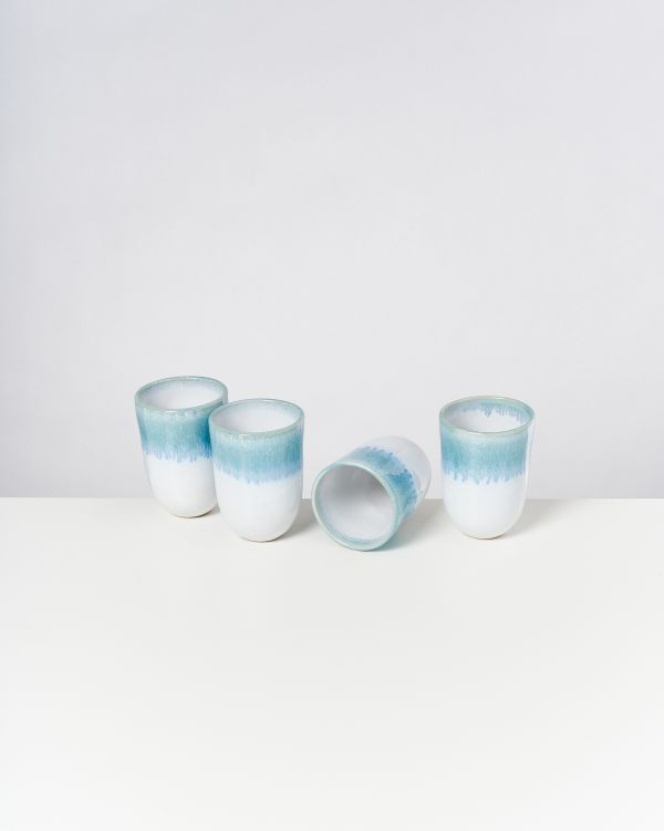 ALCACHOFRA - Set of 4 Cups big greenblue