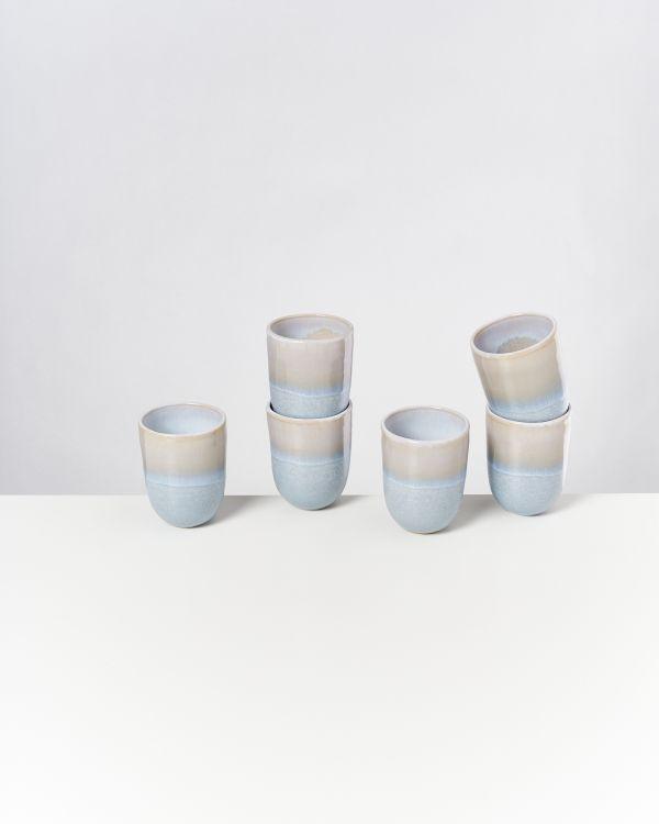 ALCACHOFRA - Set of 6 Cups big lightblue