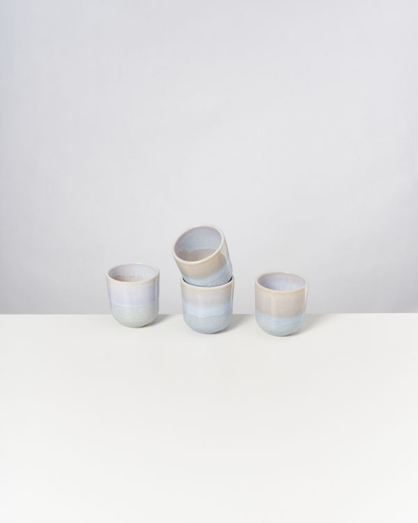 ALCACHOFRA - Set of 4 Cups small lightblue
