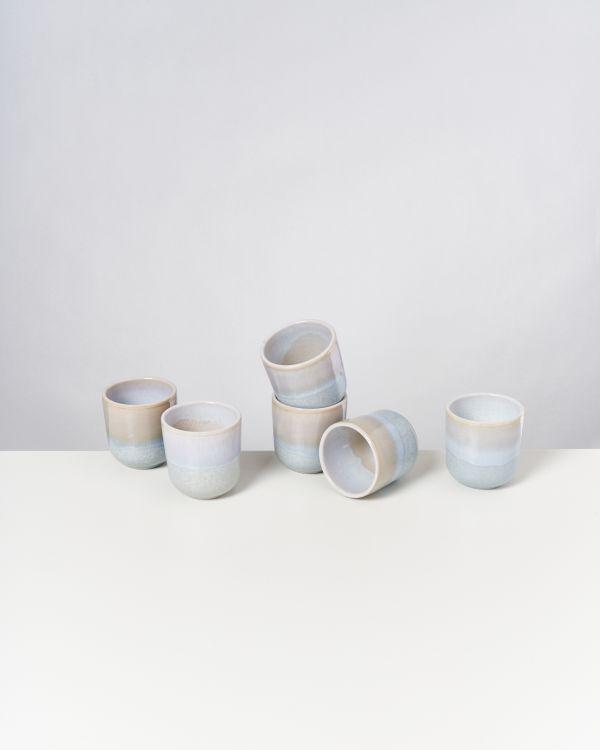 ALCACHOFRA - Set of 6 Cups small lightblue