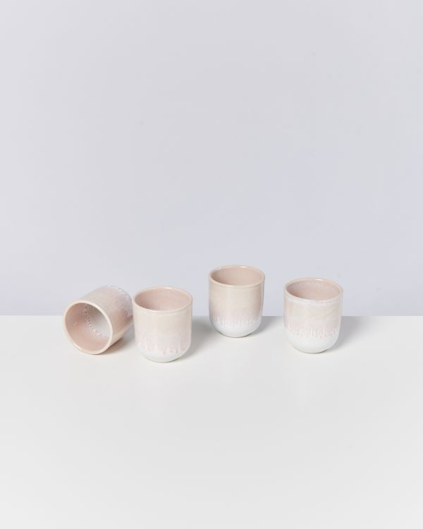 ALCACHOFRA - Set of 4 Mugs small peach