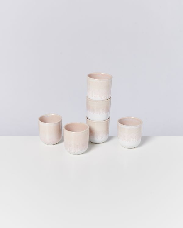 ALCACHOFRA - Set of 6 Mugs small peach