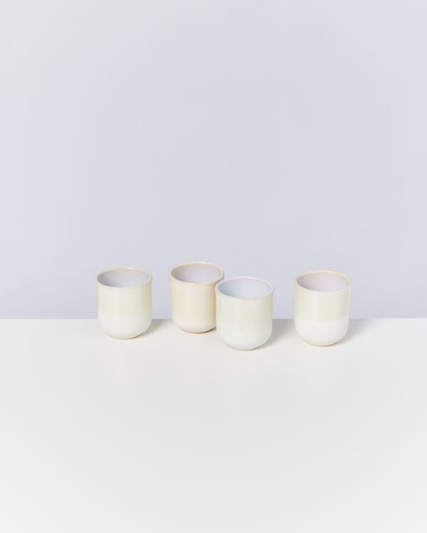 ALCACHOFRA - Set of 4 Cups small sand