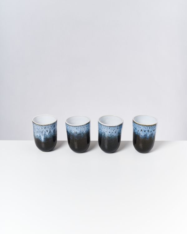 ALCACHOFRA - Set of 4 Cups big black