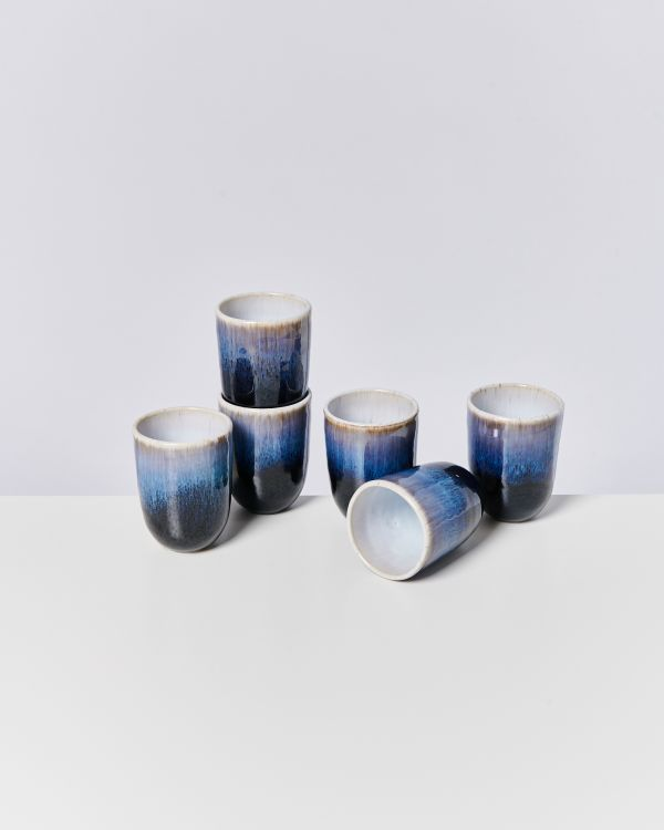 ALCACHOFRA - Set of 6 Cups big black
