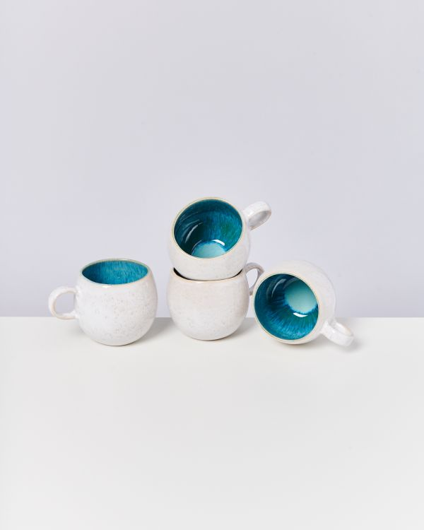 AREIA - Set of 4 Cups big aqua