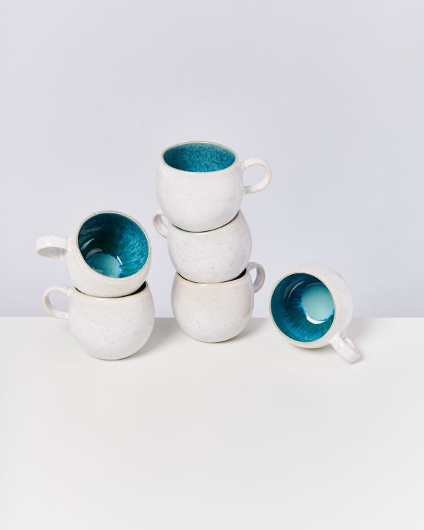 AREIA - Set of 6 Cups big aqua