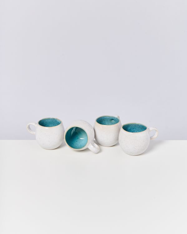AREIA - Set of 4 Cups small aqua