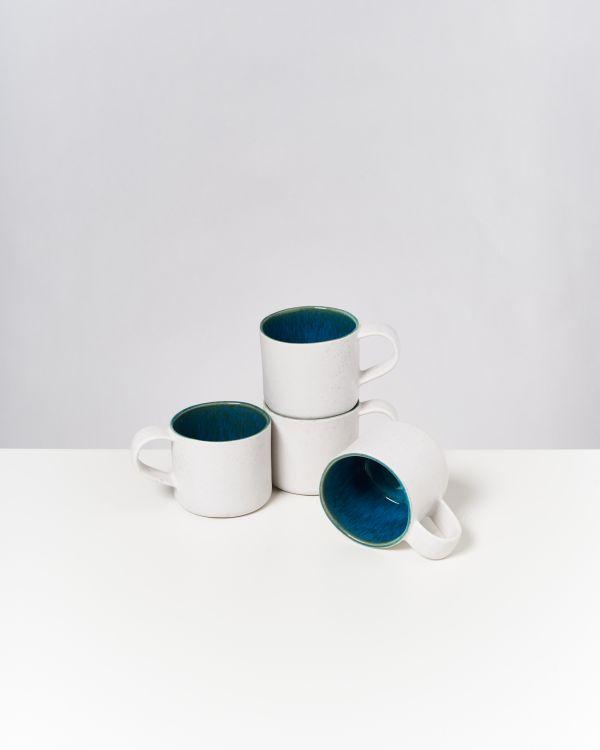 AREIA - Set of 4 Cups Nódoa aqua