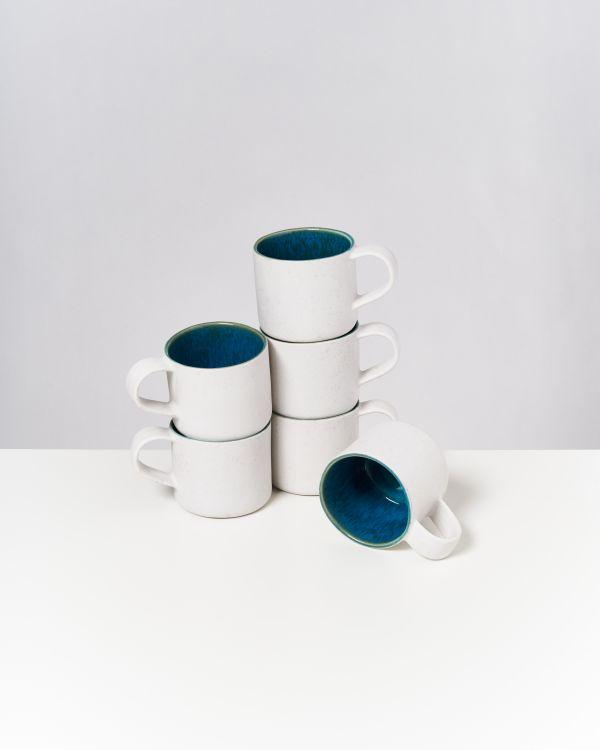 AREIA - Set of 6 Cups Nódoa aqua