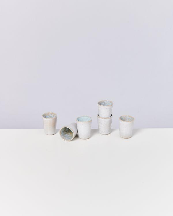 Areia 6er Set Espressobecher azur