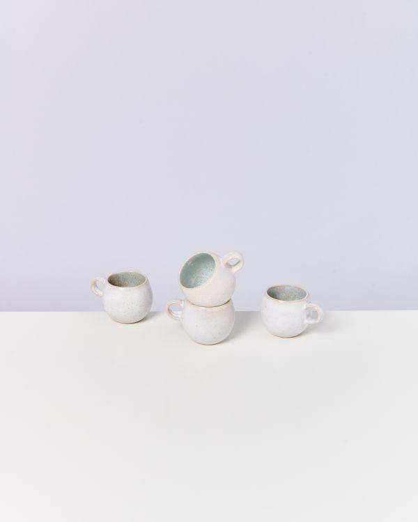 Areia 4er Set Espressotasse azur