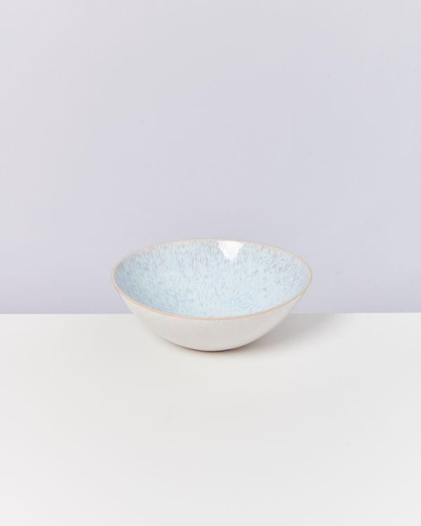 AREIA - Servingbowl flat small azure