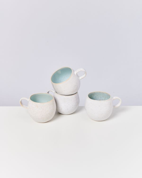 AREIA - Set of 4 Cups big azur