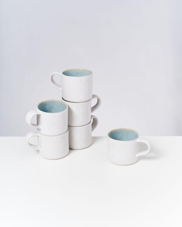 AREIA - Set of 6 Cups Nódoa azure
