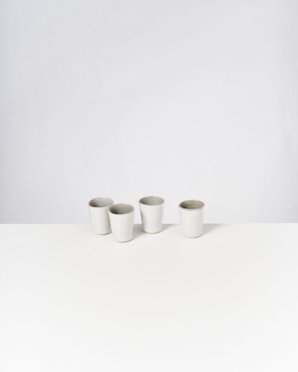 Areia 4er Set Espressobecher grau