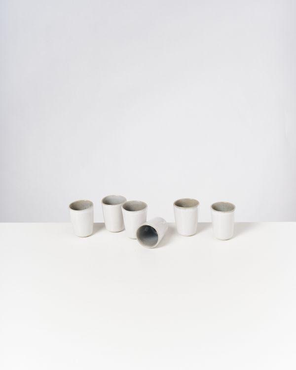 Areia 6er Set Espressobecher grau