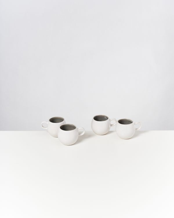 AREIA - Set of 4 Espressocups grey
