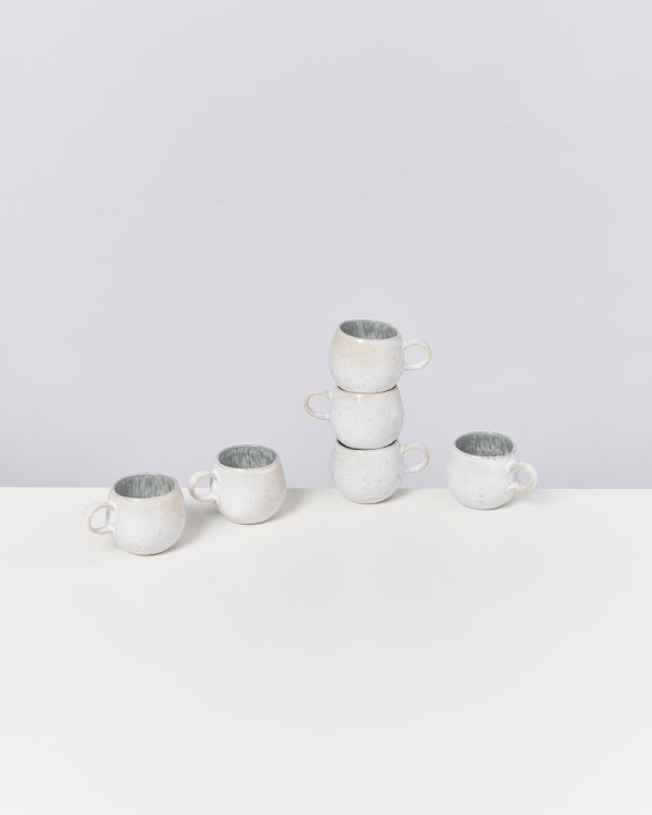 AREIA - Set of 6 Espressocups grey