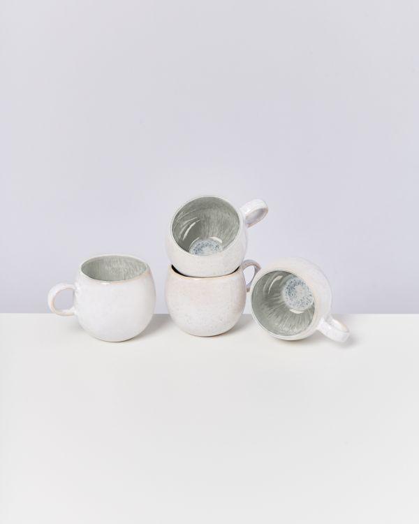 Areia 4er Set Tasse groß grau