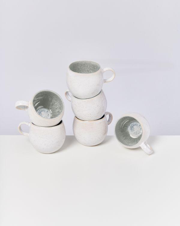 Areia 6er Set Tasse groß grau