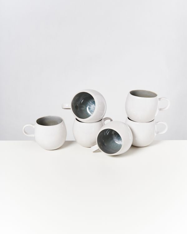 AREIA - Set of 6 Cups big grey